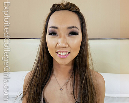 stranded asian chick in los angeles pays her rent with her cute asian asshole #6