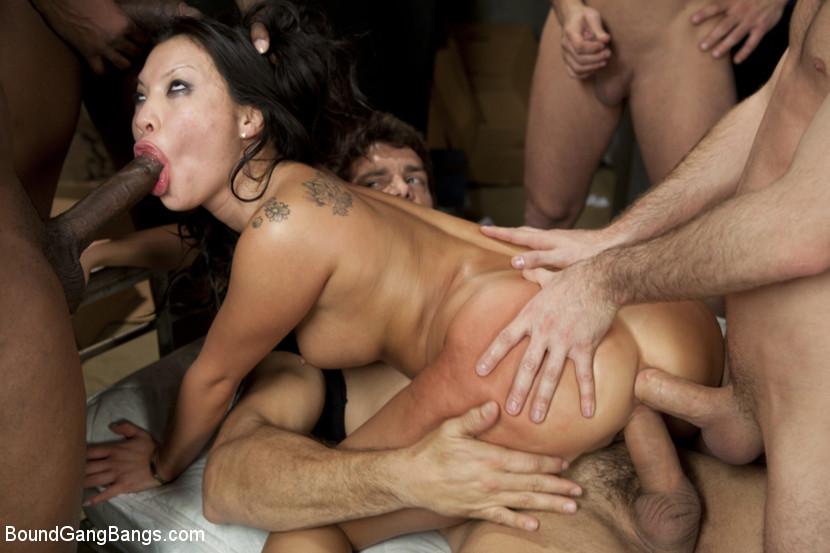 painful anal group bang for asian cutie asa akira #5