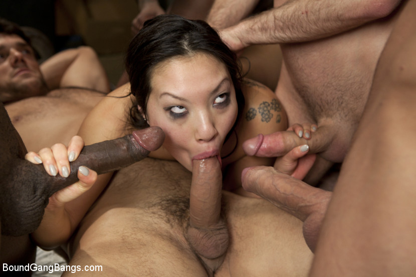 painful anal group bang for asian cutie asa akira #6