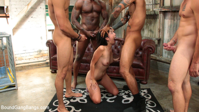 tiny asian cutie gets anal gang pleasured by a bunch of bad guys #6