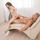 submissive student girl feeling a bit of pain while her tighty arsehole is getting knocked picture 11
