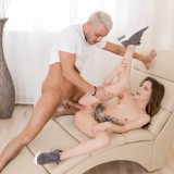 submissive student girl feeling a bit of pain while her tighty arsehole is getting knocked picture 10